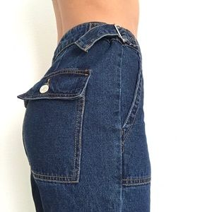 High waisted vintage style jeans